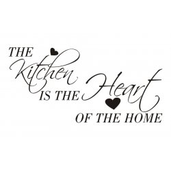 Napis na ścianę, naklejka - The kitchen is the heart of the home - 41