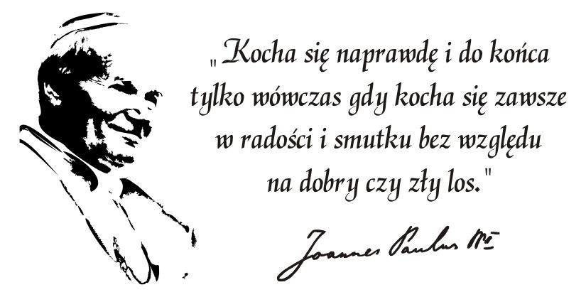 Napis Na ścianę Naklejka Papież Jan Paweł Ii 75