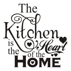 Napis na ścianę, naklejka - The Kitchen Is The Heart Of The Home - 197