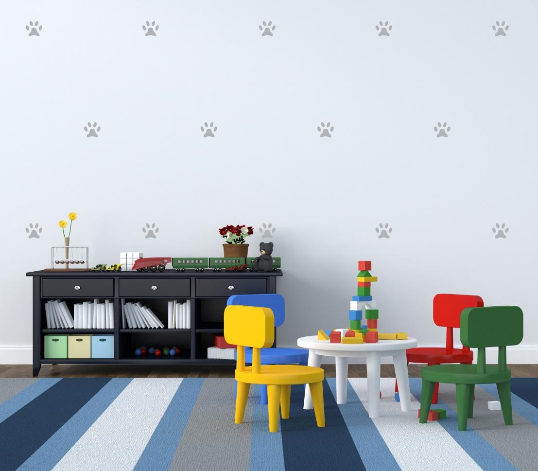 Fresh New Looks For Kids Bedrooms: Szablon Malarski SKANDYNAWSKI