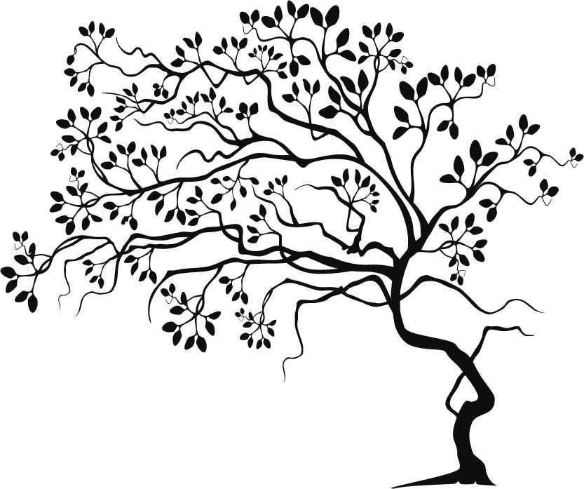 naklejka na ścianę  magiczne drzewko 55  naklejkolandia