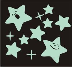 Naklejki Fluorescencyjne Swiecace W Nocy Gwiazdki