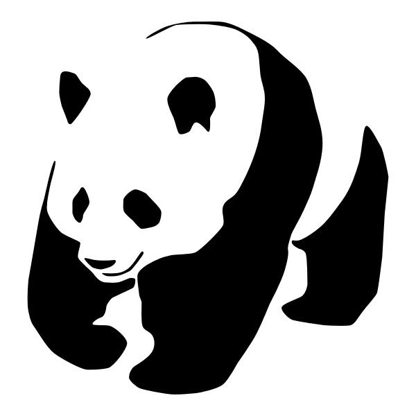 картинки панда трафареты роль этом процессе