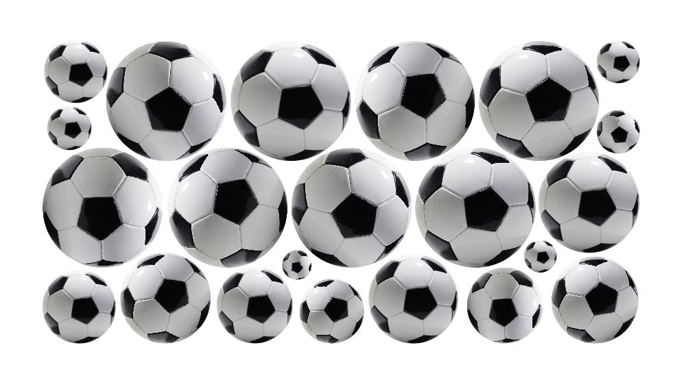 00c86b2ac Zestaw naklejek dla dzieci - Piłki, Piłka nożna 110 :: Naklejkolandia
