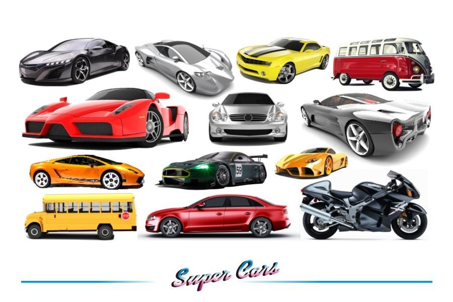 Zestaw Naklejek Dla Dzieci Super Cars 2 Naklejkolandia